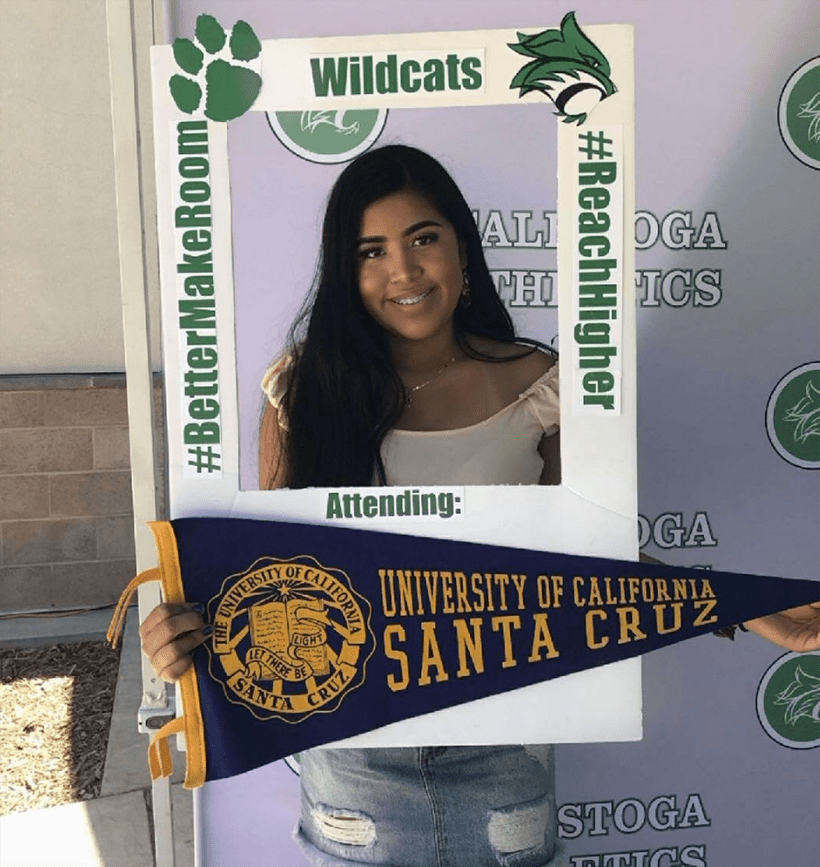 Karen from the Bay Area heading to UCSC