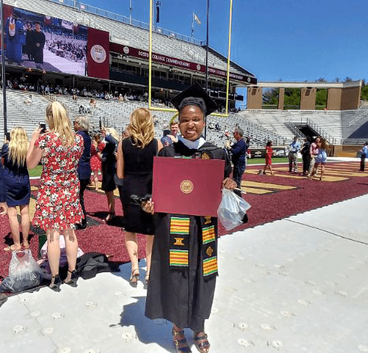 Bianca gets her degree from BC
