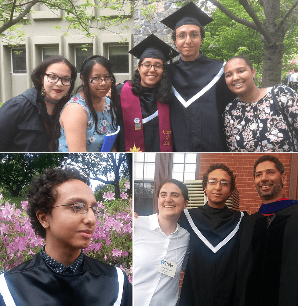 Andy graduating from Tufts University