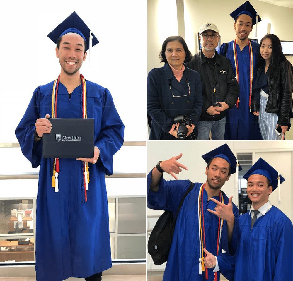 Opal graduates from SUNY New Paltz