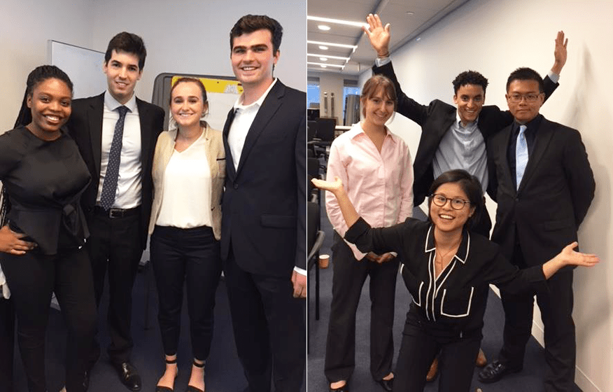 Summer Search interns at Loomis, Sayles and Company
