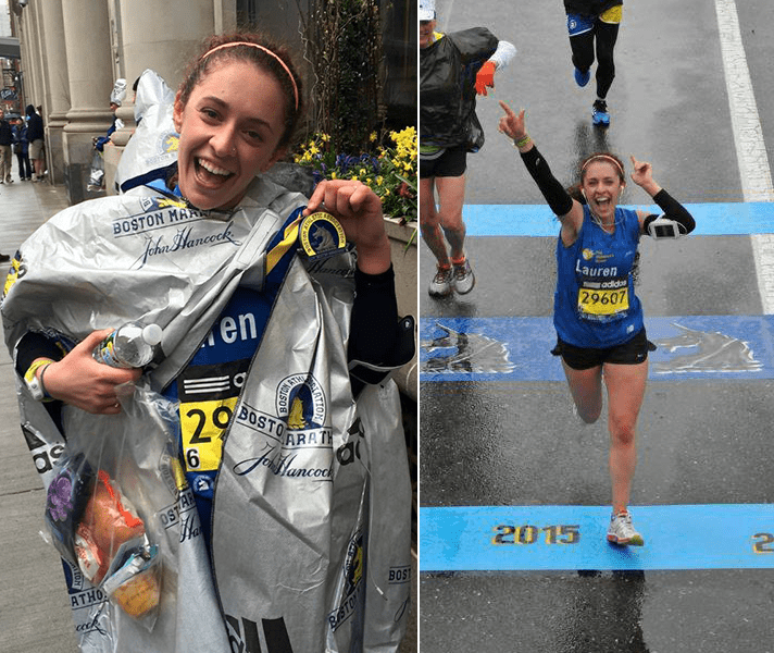 Lauren at the 2015 Boston Marathon