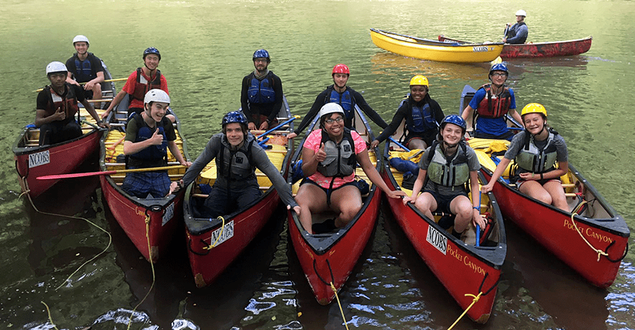 Canoeing with NCOBS