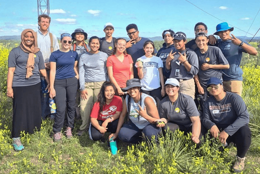 Summer Search Seattle students in Montana with VISIONS