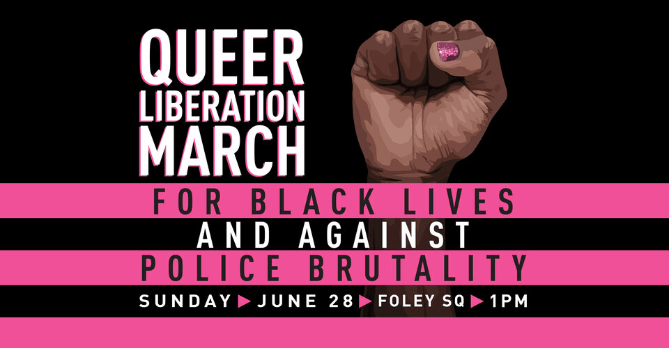 Queer Liberation March flyer