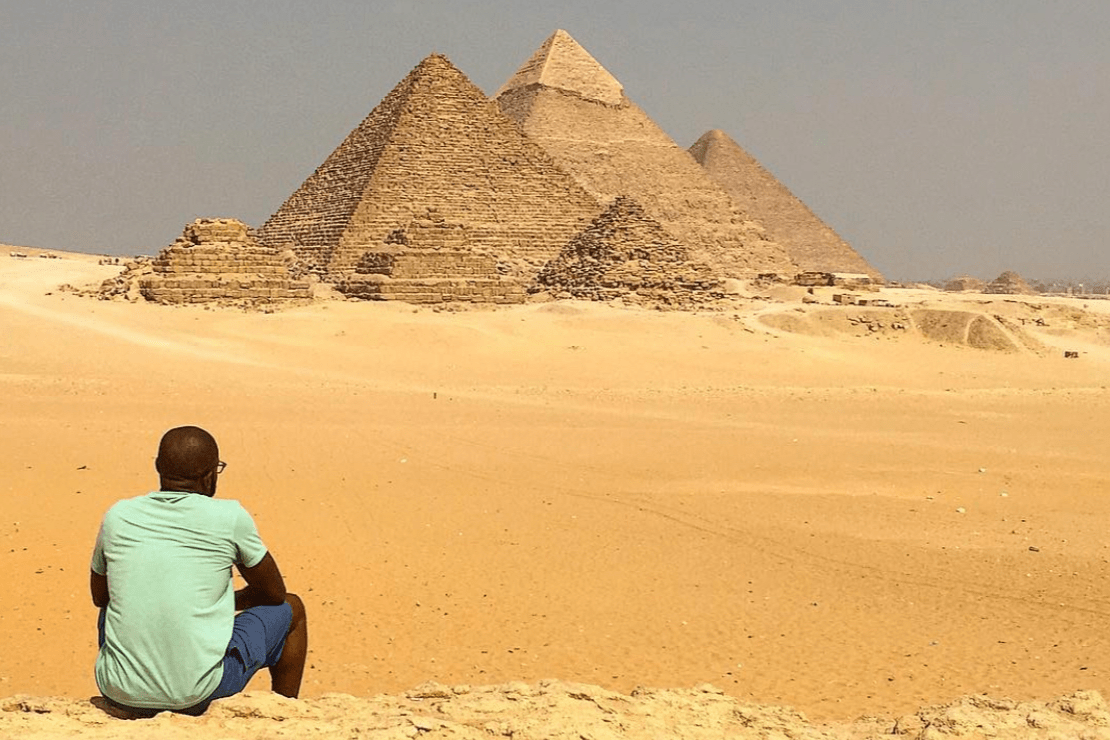 Lawrence Phillips at the Pyramids in Egypt